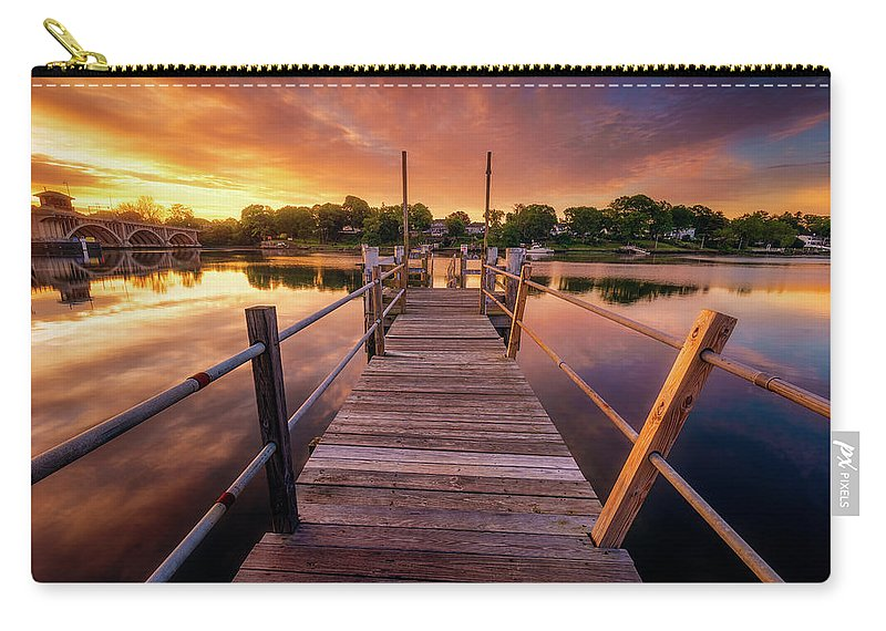 Clouds Carry-all Pouch featuring the photograph Sunrise By The Ramp by Lechmoore Simms