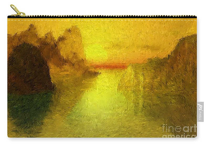 Nature Carry-all Pouch featuring the digital art Sunrise by David Lane