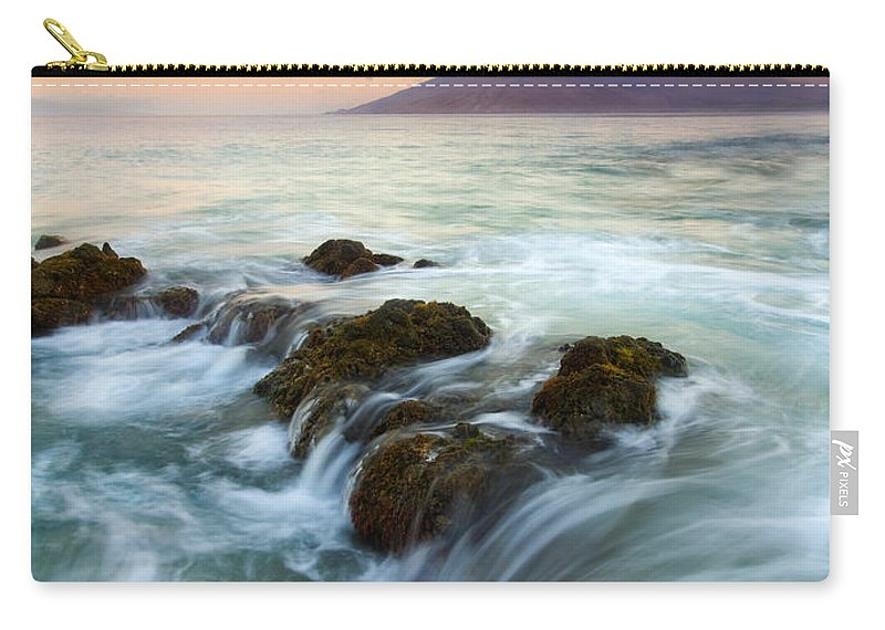 Sunrise Carry-all Pouch featuring the photograph Sunrise Drain by Mike Dawson