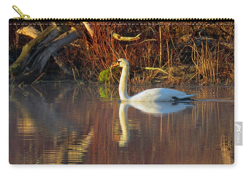 Fog Carry-all Pouch featuring the photograph Sunrise Elegance In The Mist by Dianne Cowen