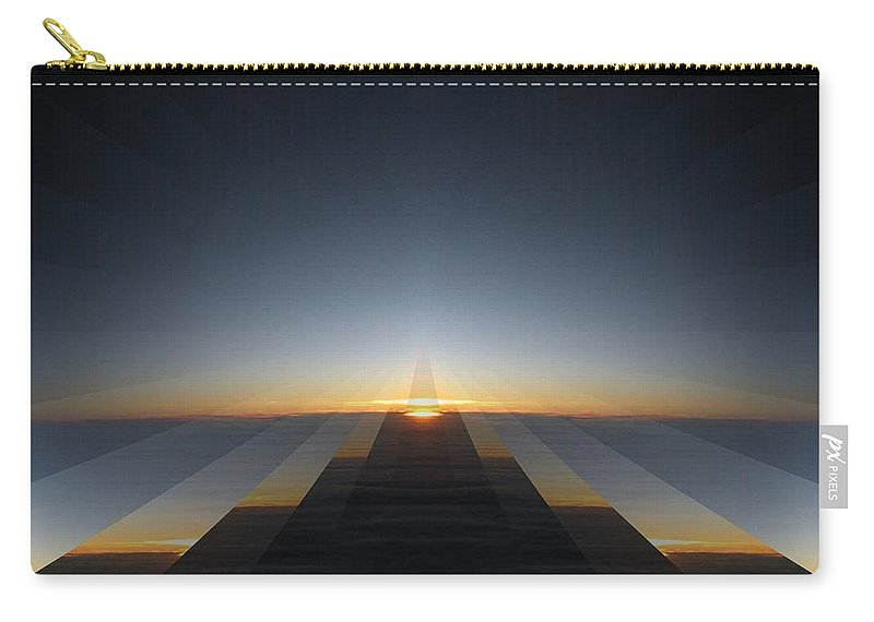 Sunrise Carry-all Pouch featuring the digital art Sunrise From 30k 3 by Tim Allen