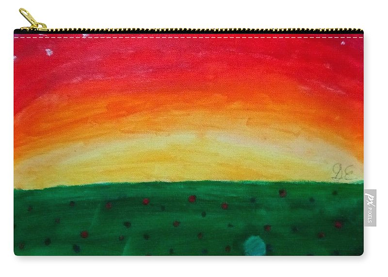 Carry-all Pouch featuring the painting Sunrise by Gracie Elkins
