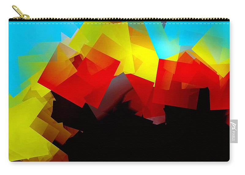 Sunrise Carry-all Pouch featuring the digital art Sunrise by Helmut Rottler