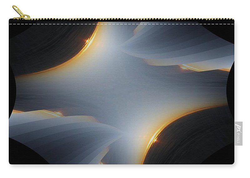Sunrise Carry-all Pouch featuring the digital art Sunrise In Fractal by Tim Allen