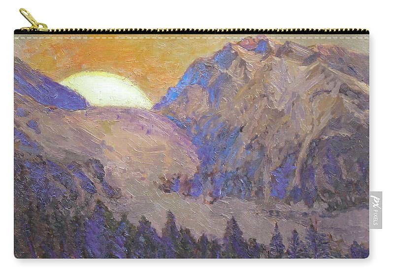 Sunrise Carry-all Pouch featuring the painting Sunrise by Meihua Lu