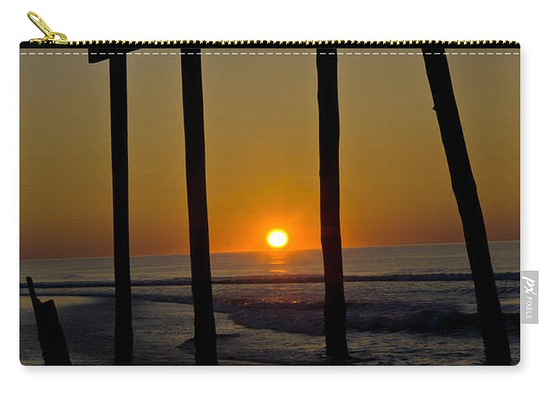 Landscape Carry-all Pouch featuring the photograph Sunrise At Ocean City by Louis Dallara