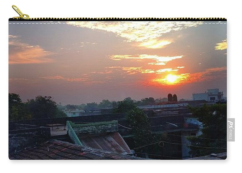 Carry-all Pouch featuring the photograph Sunrise by Nebha Jog