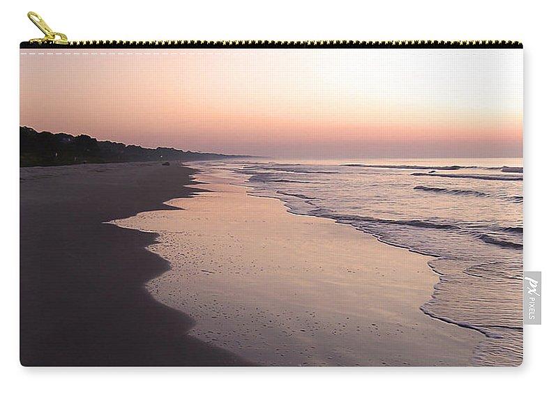 Hilton Head Island Carry-all Pouch featuring the photograph Sunrise On Hilton Head Island by Phil Perkins