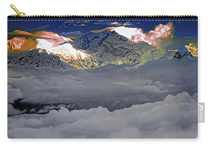 Darjeeling Carry-all Pouch featuring the photograph Sunrise On Kanchenjunga by Steve Harrington