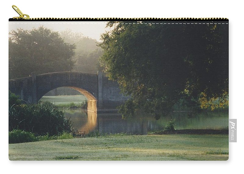 Bridge Carry-all Pouch featuring the photograph Sunrise On The Golf Course by Michelle Powell