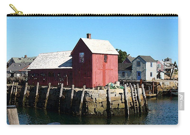Water Carry-all Pouch featuring the painting Sunrise On The Pier by Paul Sachtleben