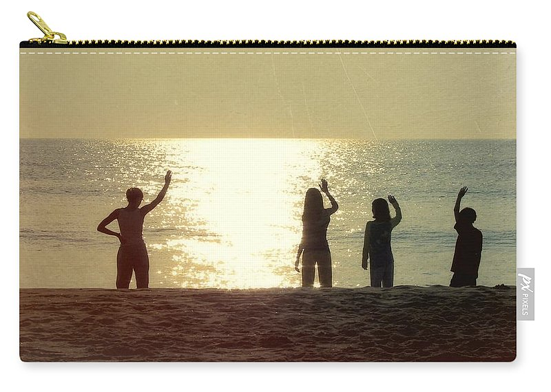 Sunrise Carry-all Pouch featuring the photograph Sunrise On The Sea by JAMART Photography