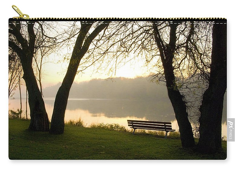 Sunrise Carry-all Pouch featuring the photograph Sunrise Over The Maumee by Jeffery Ball
