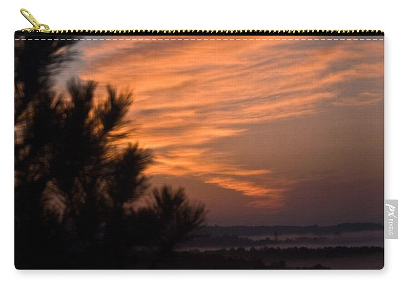 Sunrise Carry-all Pouch featuring the photograph Sunrise Over The Mist by Douglas Barnett