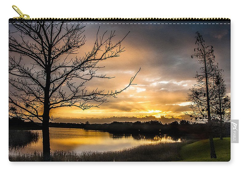 Sunrise Carry-all Pouch featuring the photograph Sunrise Over Valhalla by Norman Johnson
