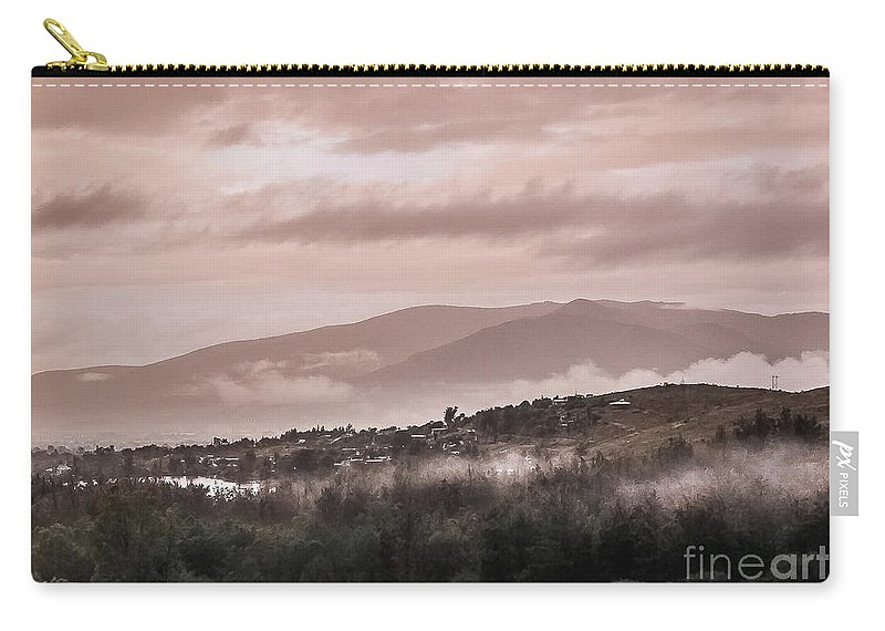 Tlacolula Carry-all Pouch featuring the photograph Sunrise Pink Over Tlacolula Valley by IK Hadinger