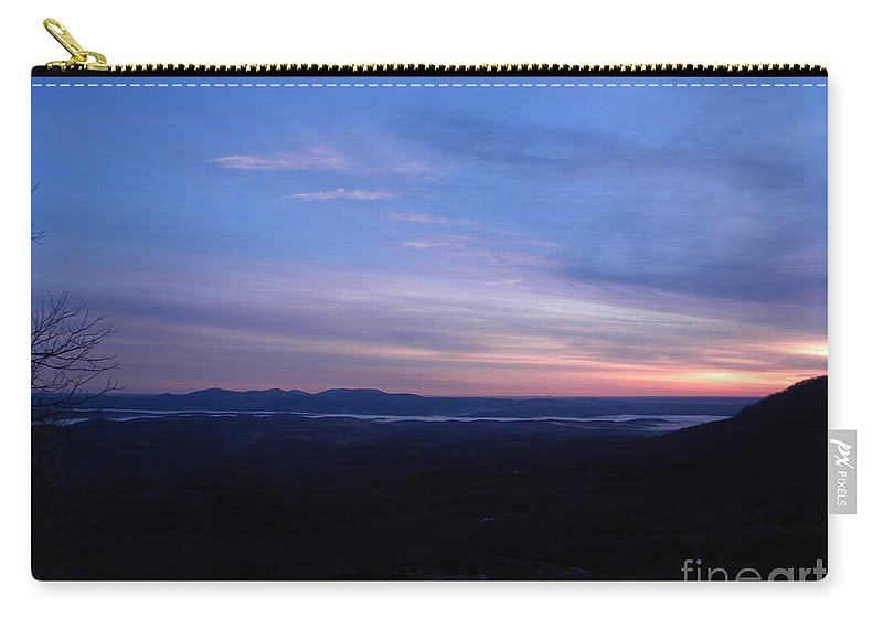 Sunrise Carry-all Pouch featuring the photograph Sunrise Point On Highway 7 by Nathanael Smith