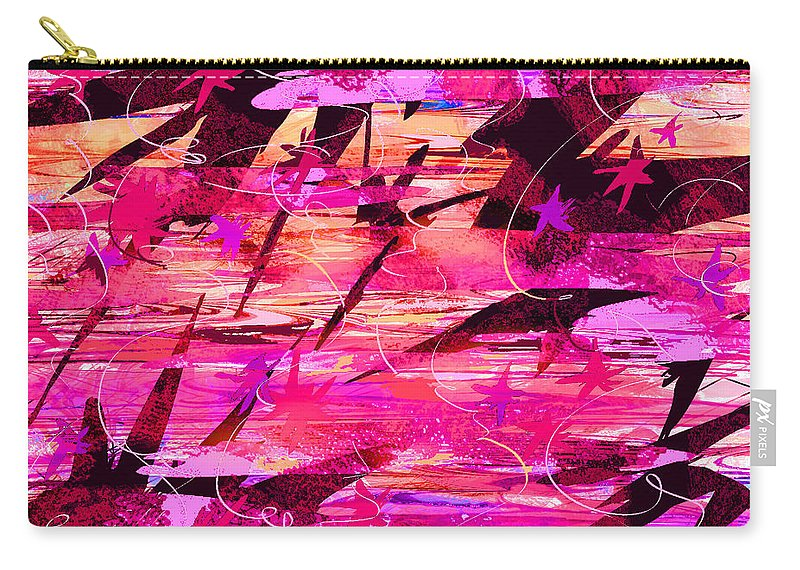 Abstract Carry-all Pouch featuring the digital art Sunrise by Rachel Christine Nowicki