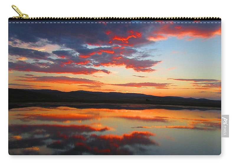 Sunrise Carry-all Pouch featuring the photograph Sunrise Refection by Carol Dyer