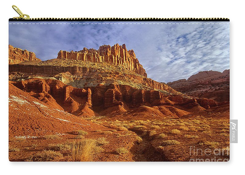 Dave Welling Carry-all Pouch featuring the photograph Sunrise The Castle Capitol Reef National Park Utah by Dave Welling