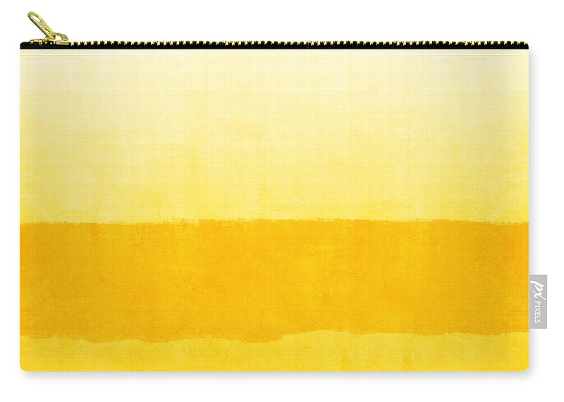 Abstract Carry-all Pouch featuring the painting Sunrise- Yellow Abstract Art by Linda Woods by Linda Woods