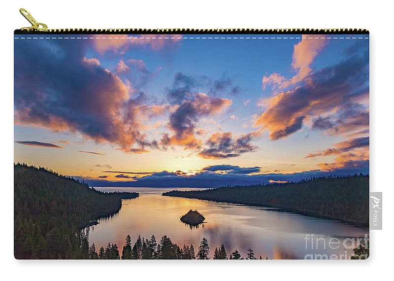 Jyoscape Carry-all Pouch featuring the photograph A Splash Of Colors. by Jyoti Suravarjula