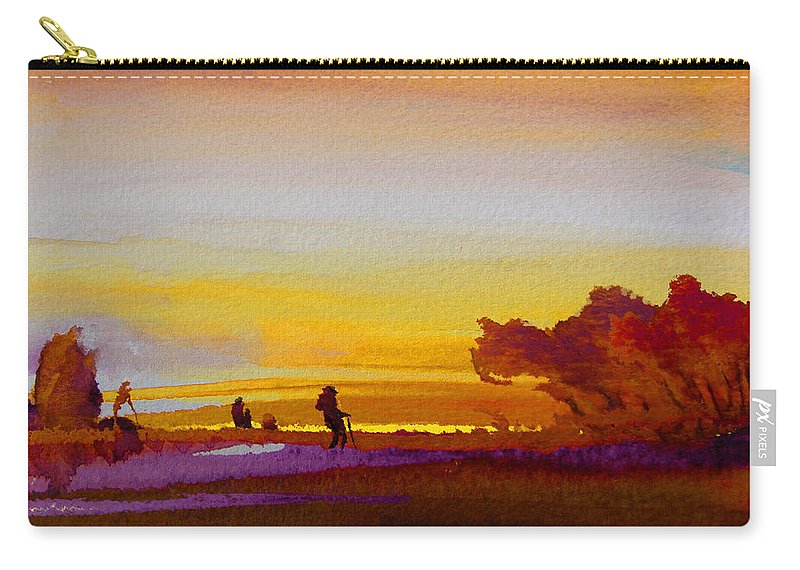 Watercolour Carry-all Pouch featuring the painting Sunset 07 by Miki De Goodaboom