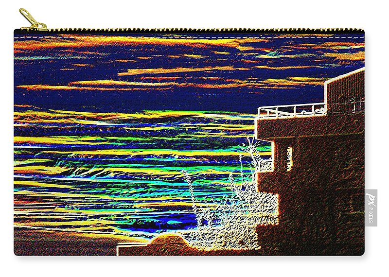 Seattle Carry-all Pouch featuring the digital art Sunset 1 by Tim Allen