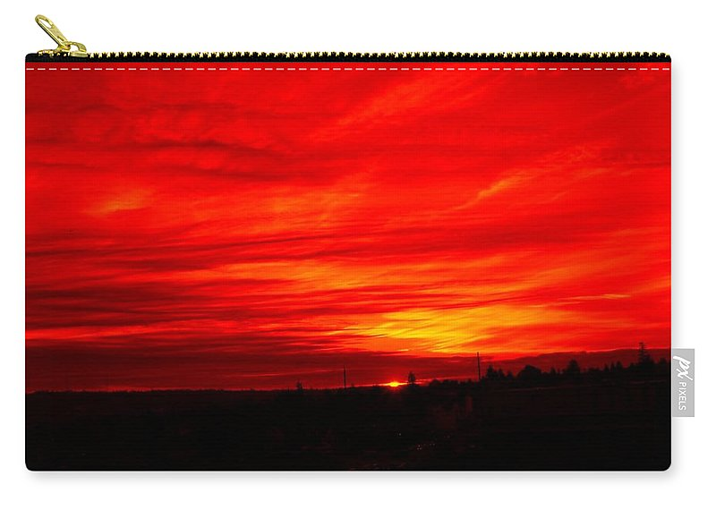 Seattle Carry-all Pouch featuring the digital art Sunset 2 by Tim Allen