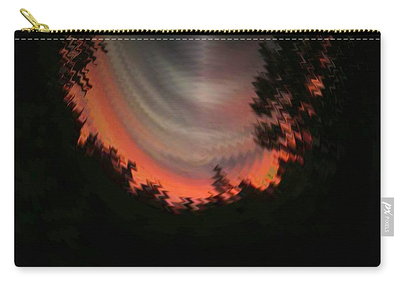 Sunset Carry-all Pouch featuring the digital art Sunset 3 by Tim Allen