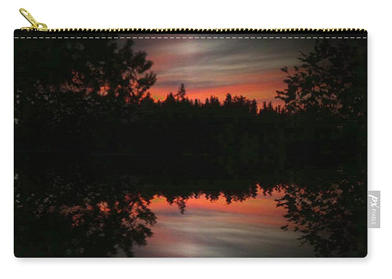 Sunset Carry-all Pouch featuring the photograph Sunset 4 by Tim Allen
