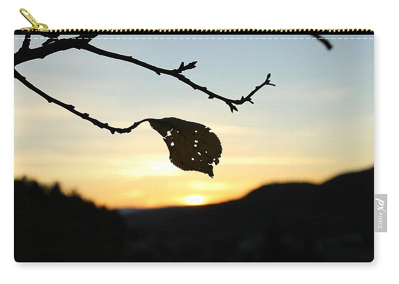 Sunset Carry-all Pouch featuring the photograph Sunset by Alena Madosova