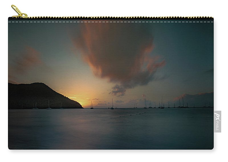 Tim Photos Carry-all Pouch featuring the photograph Sunset Almost Perfect by Timothy Needham
