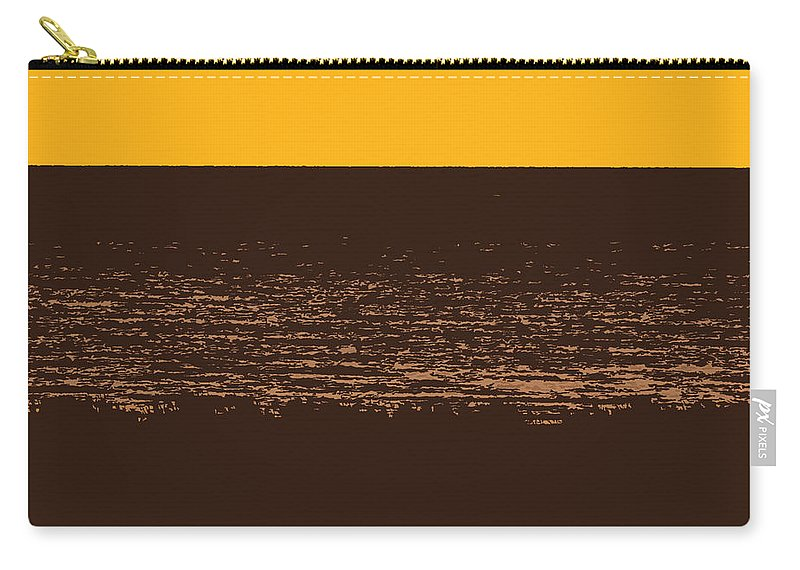 Golden Carry-all Pouch featuring the photograph Sunset And Lake Michigan by Michelle Calkins