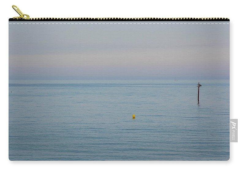 Barceloneta Beach Carry-all Pouch featuring the photograph Sunset At Barceloneta Beach, Barcelona, Spain by Nicole Freedman