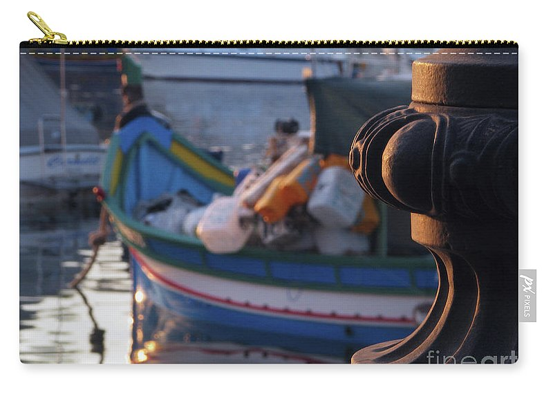 Birzebbugia Carry-all Pouch featuring the digital art Sunset At Birzebbugia by Richard Faenza