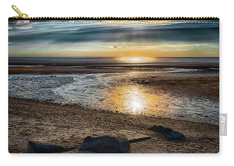 Sunset Carry-all Pouch featuring the photograph Sunset At Brewster Flats by Robert Anastasi