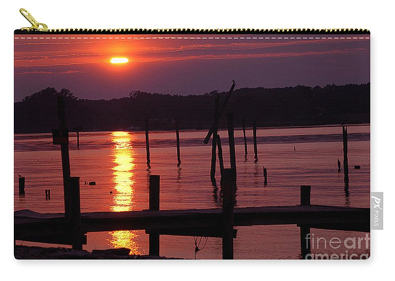 Clay Carry-all Pouch featuring the photograph Sunset At Colonial Beach by Clayton Bruster