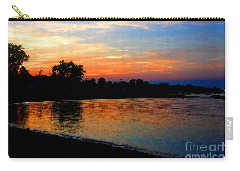 Clay Carry-all Pouch featuring the photograph Sunset At Colonial Beach Cove by Clayton Bruster