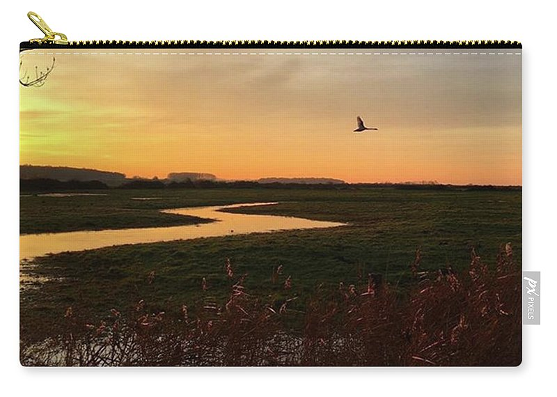 Natureonly Carry-all Pouch featuring the photograph Sunset At Holkham Today  #landscape by John Edwards
