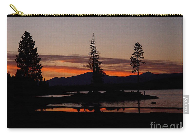 Lake Almanor Carry-all Pouch featuring the photograph Sunset At Lake Almanor 02 by Peter Piatt