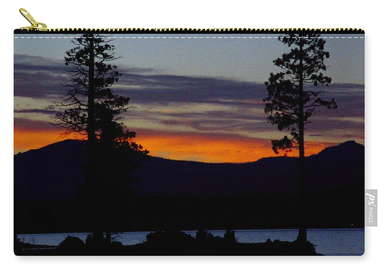 Lake Almanor Carry-all Pouch featuring the photograph Sunset At Lake Almanor by Peter Piatt