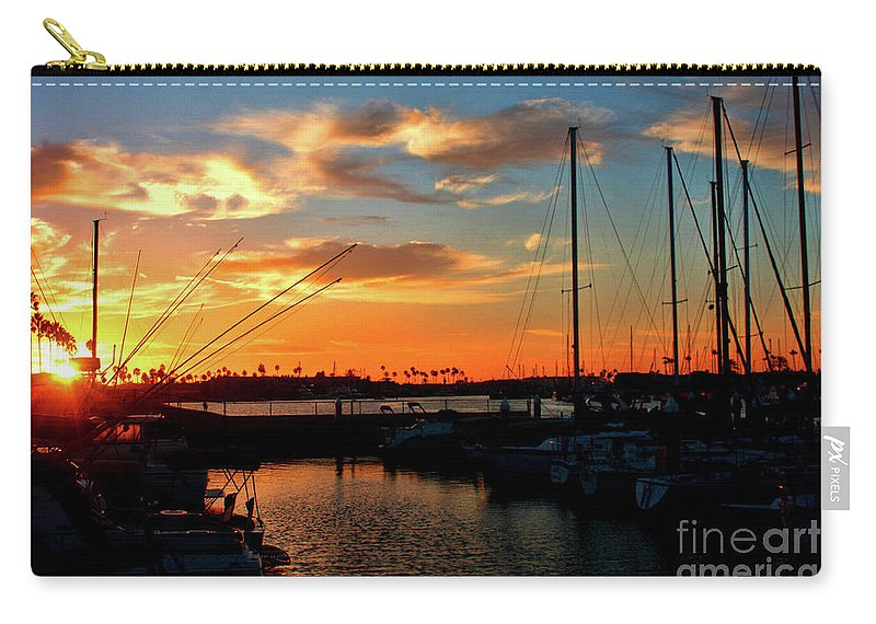 California Carry-all Pouch featuring the photograph Sunset At Newport Beach Harbor by Tommy Anderson