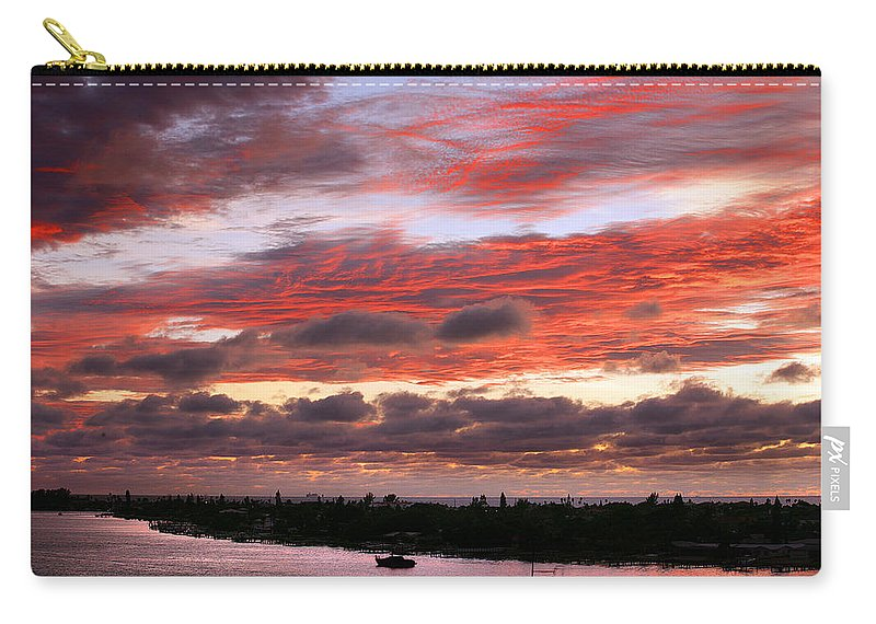 Sun Carry-all Pouch featuring the photograph Sunset At Pass A Grille Florida by Mal Bray