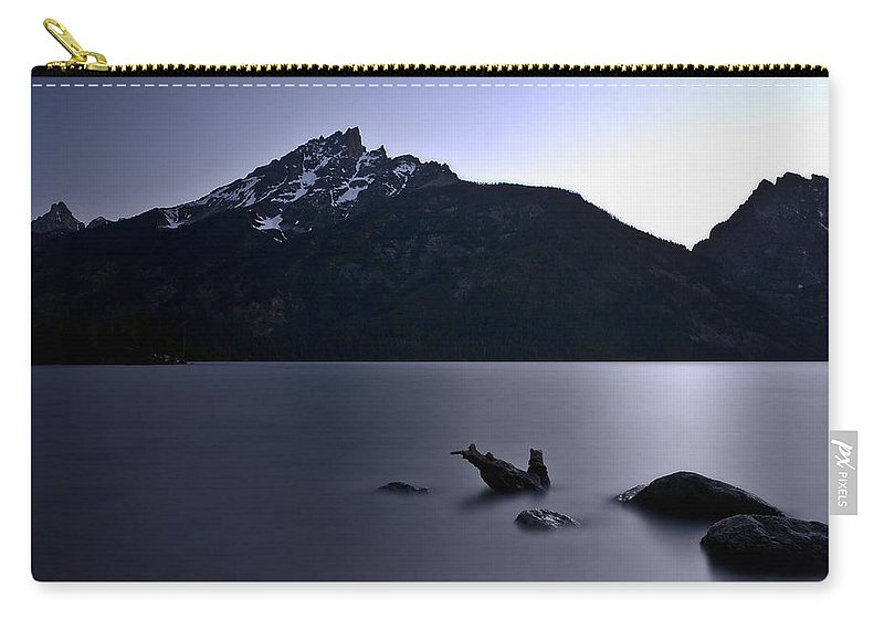 Nature Carry-all Pouch featuring the photograph Sunset At The Lake by John K Sampson