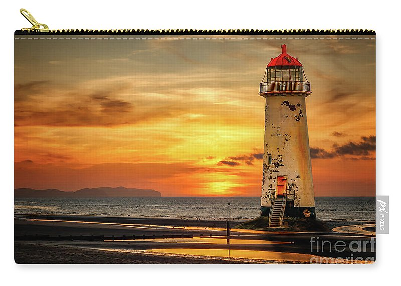Sunset Carry-all Pouch featuring the photograph Sunset At The Lighthouse by Adrian Evans