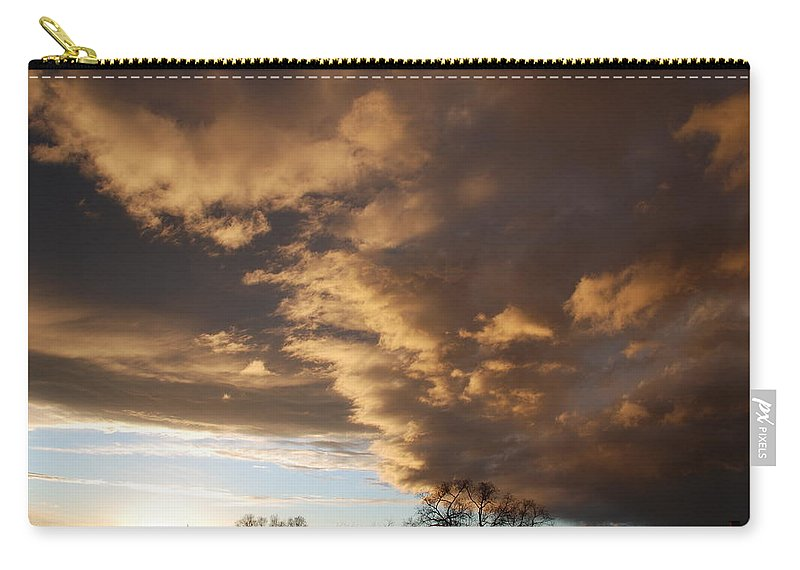Sunset Carry-all Pouch featuring the photograph Sunset At The New Mexico State Capital by Rob Hans