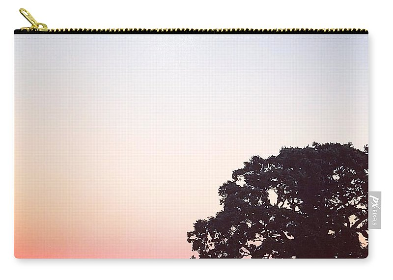 Wine Country Carry-all Pouch featuring the photograph Sunset At The Winery by Amanda Dresen