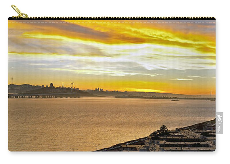 San Francisco Bay Carry-all Pouch featuring the photograph Sunset Bay by Kelley King