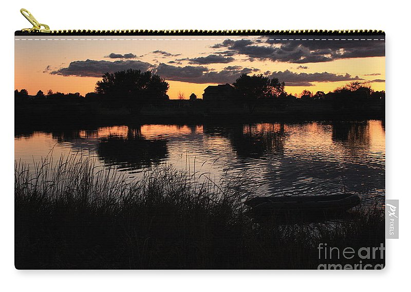 Sunset Carry-all Pouch featuring the photograph Sunset Boat by Carol Groenen